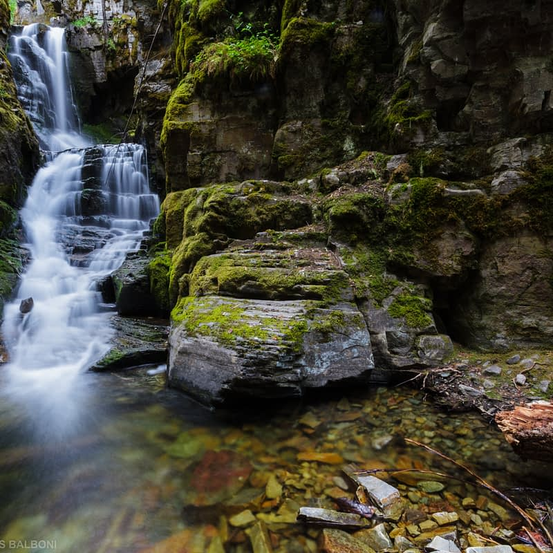 Little North Fork Falls and Creek
