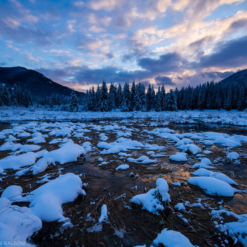 Winter River Twilight