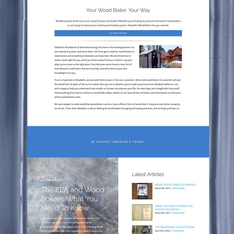 Wood Boilers – Web Design