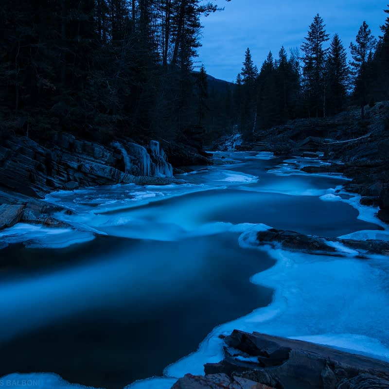 Yaak River – Winter Dusk